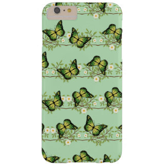 Green butterflies pattern barely there iPhone 6 plus case