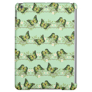 Green butterflies pattern cover for iPad air