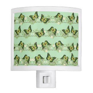 Green butterflies pattern night lites