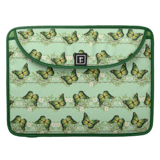 Green butterflies pattern sleeve for MacBooks