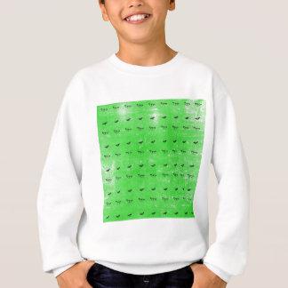 Green butterflies sweatshirt