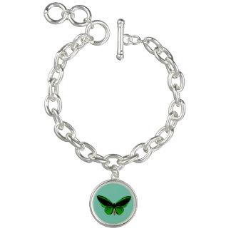 Green Butterfly Charm Bracelet
