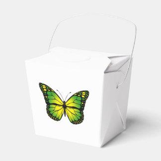 Green butterfly favor box