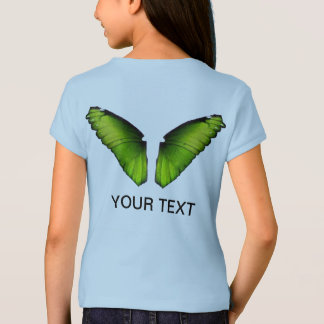 Green Butterfly for Wings Girl T-Shirt