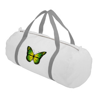 Green butterfly gym bag