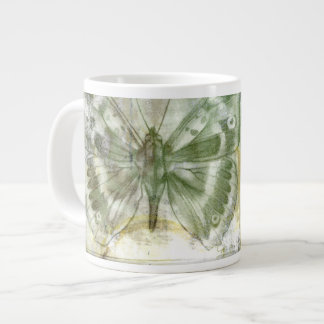 Green Butterfly Inset with Ironwork Gate Large Coffee Mug