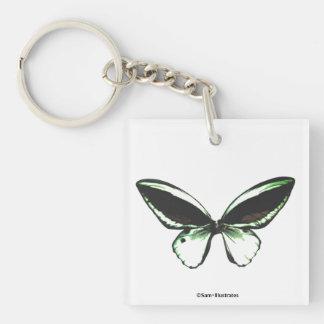 Green Butterfly Keychain Accessory