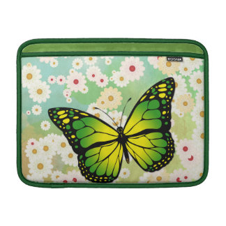 Green butterfly MacBook sleeve