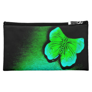 Green Butterfly Makeup Bag