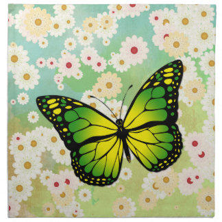 Green butterfly napkin