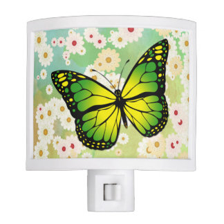 Green butterfly nite light