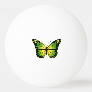Green butterfly ping pong ball