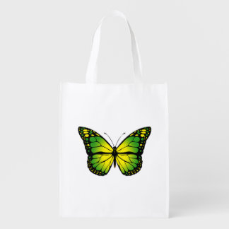 Green butterfly reusable grocery bag