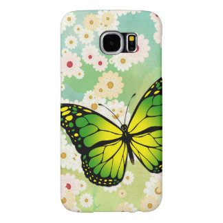 Green butterfly samsung galaxy s6 cases