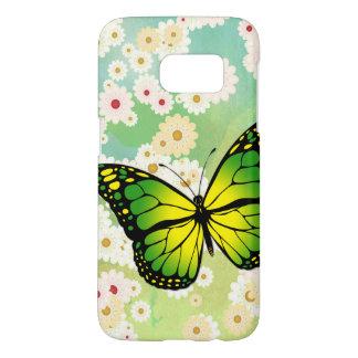 Green butterfly samsung galaxy s7 case