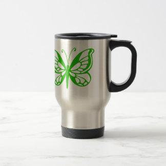 Green Butterfly Travel Mug