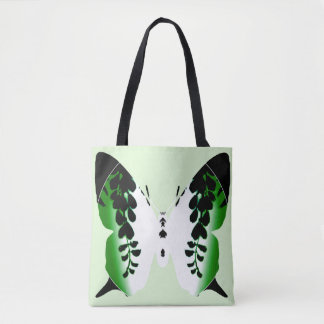 Green Butterfly Wisteria Silhouette Bag
