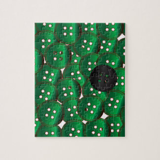 Green Buttons Jigsaw Puzzle
