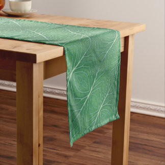 Green Cabbage Leaf 0933 Short Table Runner