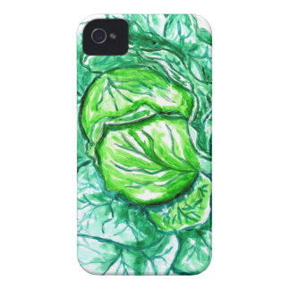 Green Cabbage Watercolor 2 Case-Mate iPhone 4 Case