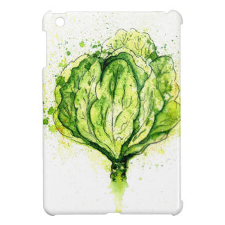 Green Cabbage Watercolor iPad Mini Case