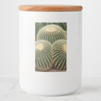 Green Cactus Food Container Label