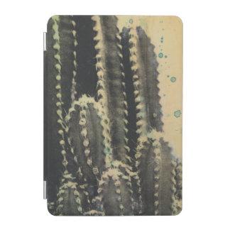 Green Cactus on Yellow Background iPad Mini Cover