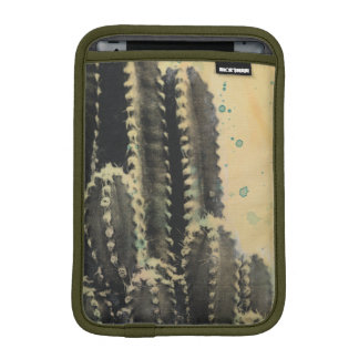 Green Cactus on Yellow Background iPad Mini Sleeves