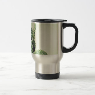 Green cactus travel mug