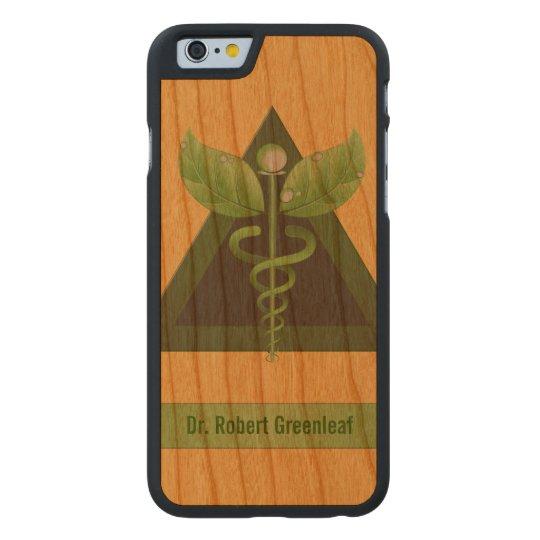 Green Caduceus Alternative Medicine Icon Carved® Cherry iPhone 6 Slim Case