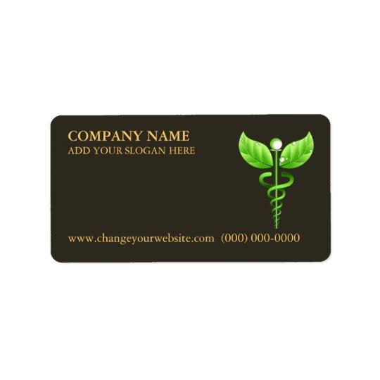 Green Caduceus Alternative Medicine Symbol Brown