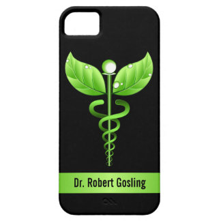 Green Caduceus Holistic Health Symbol Case For The iPhone 5
