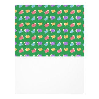Green cake pattern custom flyer
