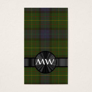 Green California state tartan plaid Business Card