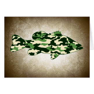 Green Camo Bass Fishing Card