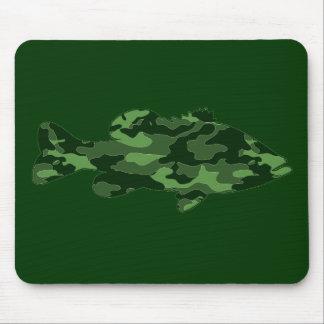 Green Camo Bass Fishing Mouse Pad