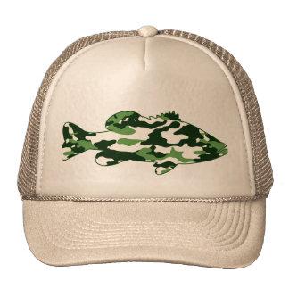 Green Camo Bass Fishing Trucker Hat