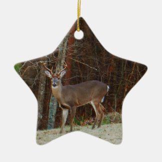 Green Camo,Camouflage Deer personalized Ceramic Star Ornament