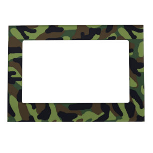 Green Camo Camouflage Magnetic Picture Frame