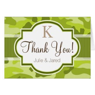 Green Camo, Camouflage Wedding Card