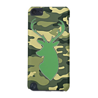Green camo deer head iPod Touch 5G covers