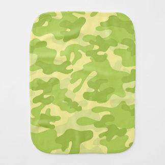 Green Camo Design Baby Burp Cloth