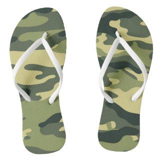 Green Camo Flip flops, camouflage olive drab Flip Flops