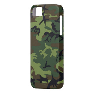 Green Camo iPhone 5S Shell w/ID,Credit Card Holder Case For The iPhone 5