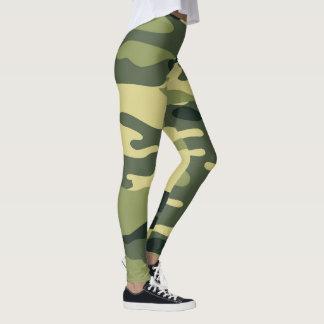 Green Camo Leggings / military camouflage