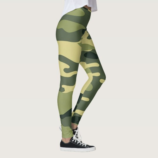 Green Camo Leggings / military camouflage