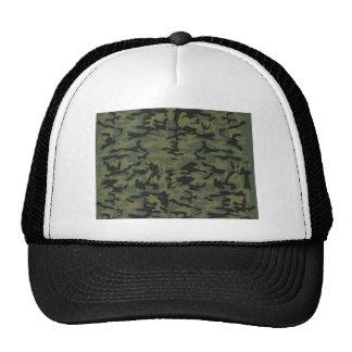 Green camo pattern mesh hats