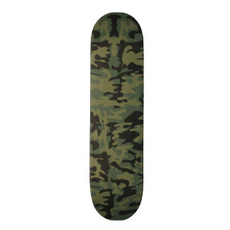 Green camo pattern skateboard deck