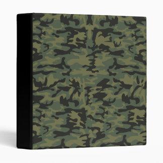 Green camo pattern vinyl binder