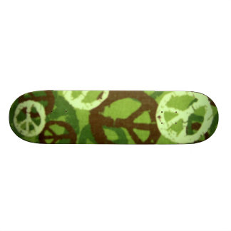 Green Camo/Peace Signs Skateboard
